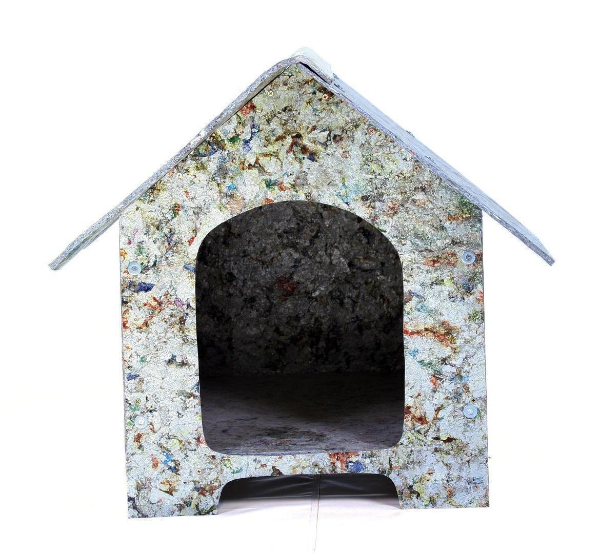 Casa Ecológica  Feita a partir de chapa reciclada de resíduo de  #7D614E 1168x1081